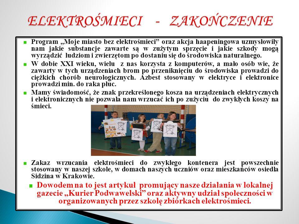 ELEKTROŚMIECI - ZAKOŃCZENIE