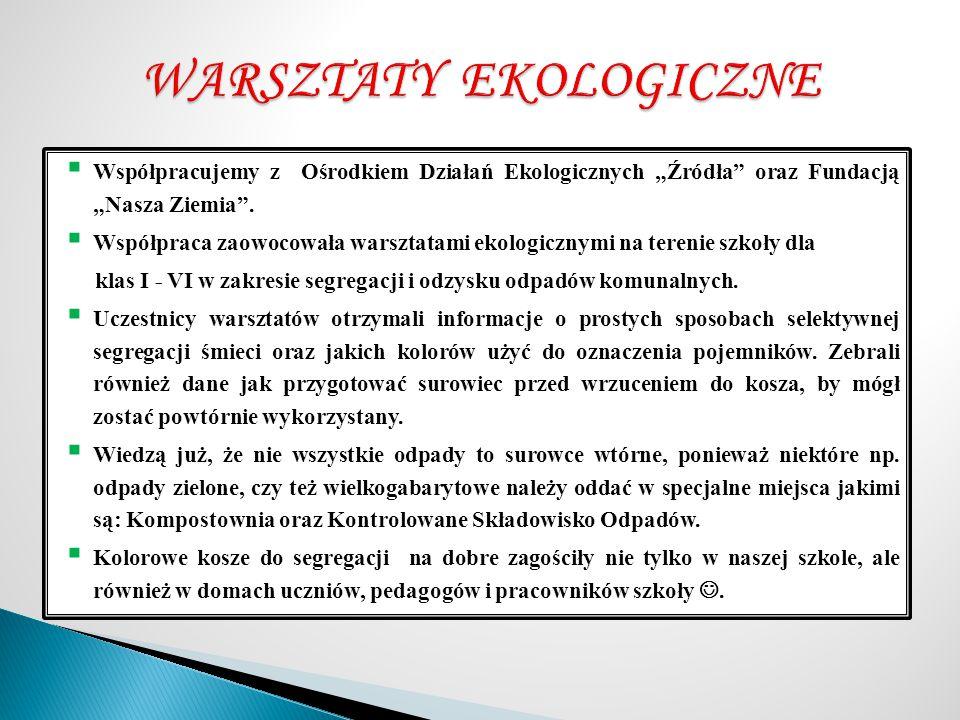 WARSZTATY EKOLOGICZNE