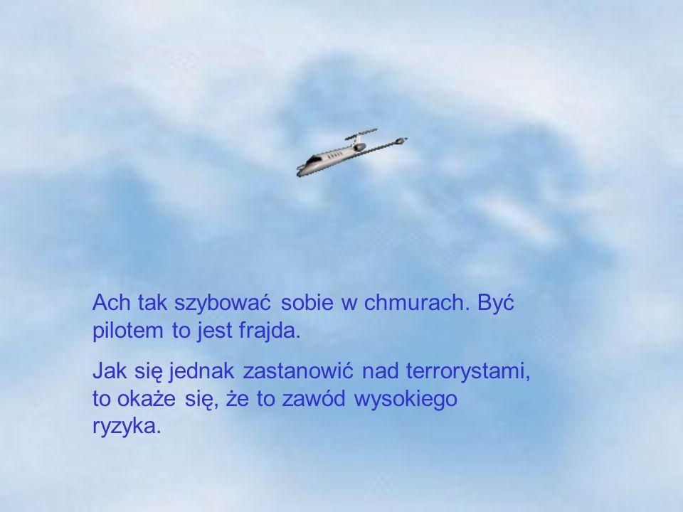 Ach tak szybować sobie w chmurach. Być pilotem to jest frajda.