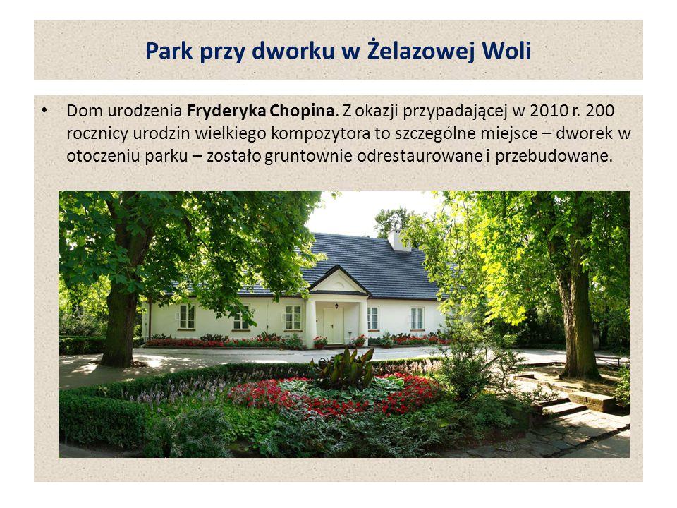 Park przy dworku w Żelazowej Woli