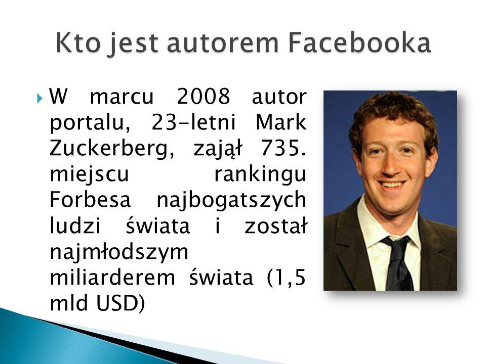 Kto jest autorem Facebooka