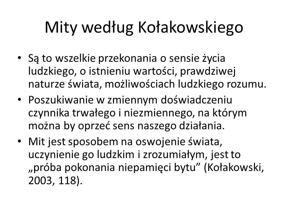 Mity według Kołakowskiego