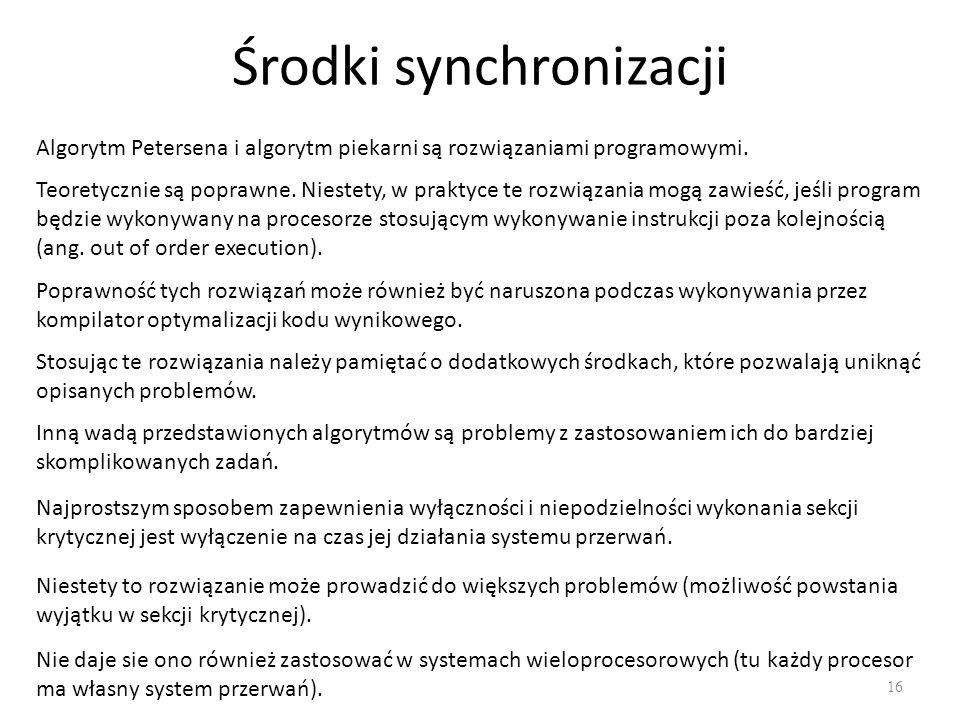 Środki synchronizacji