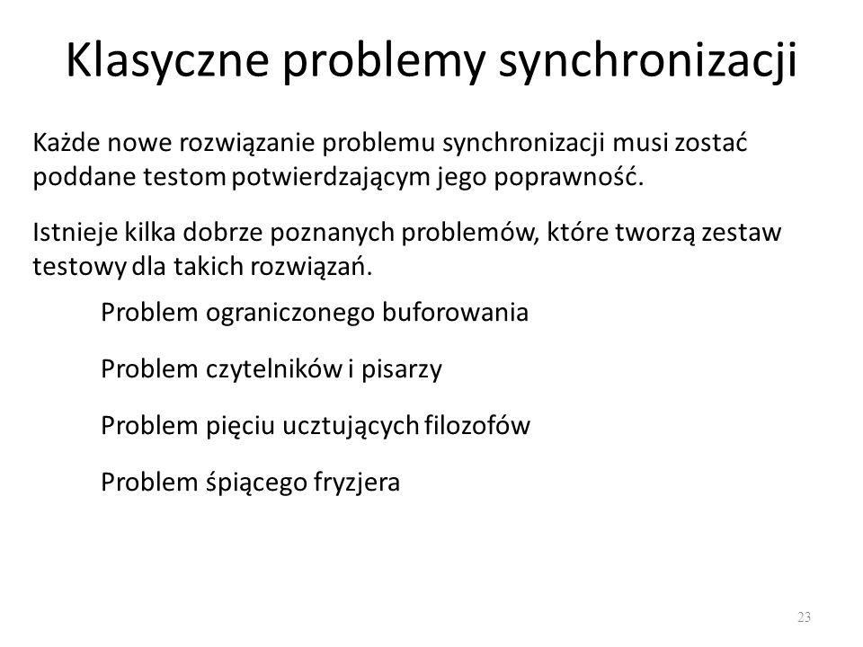 Klasyczne problemy synchronizacji