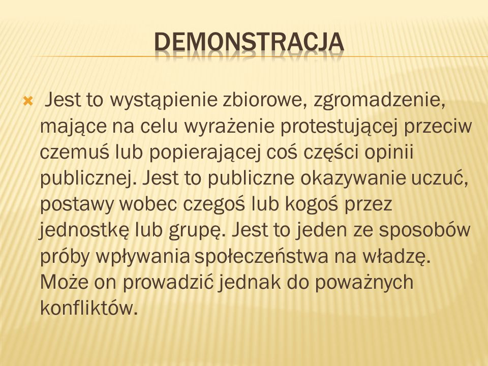 demonstracja