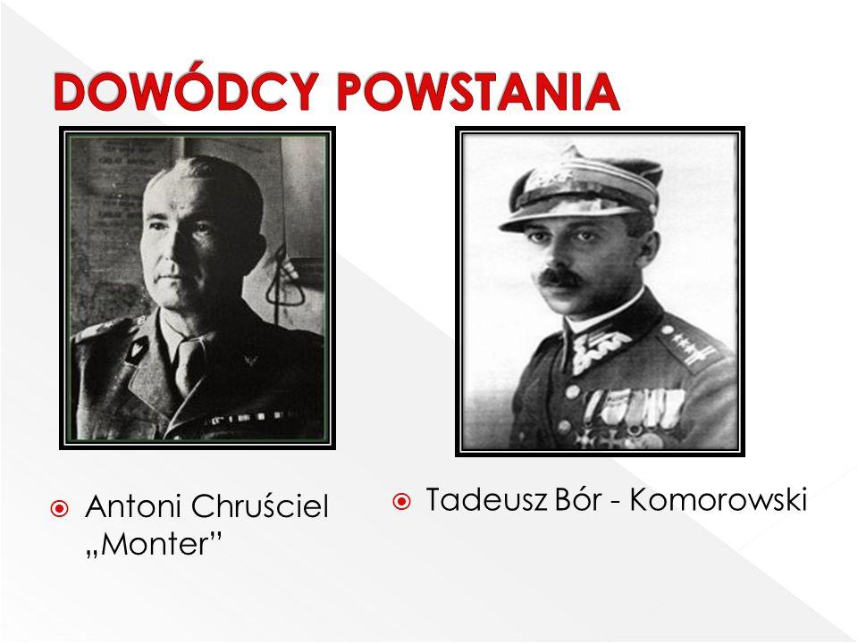 """DOWÓDCY POWSTANIA Tadeusz Bór - Komorowski Antoni Chruściel """"Monter"""