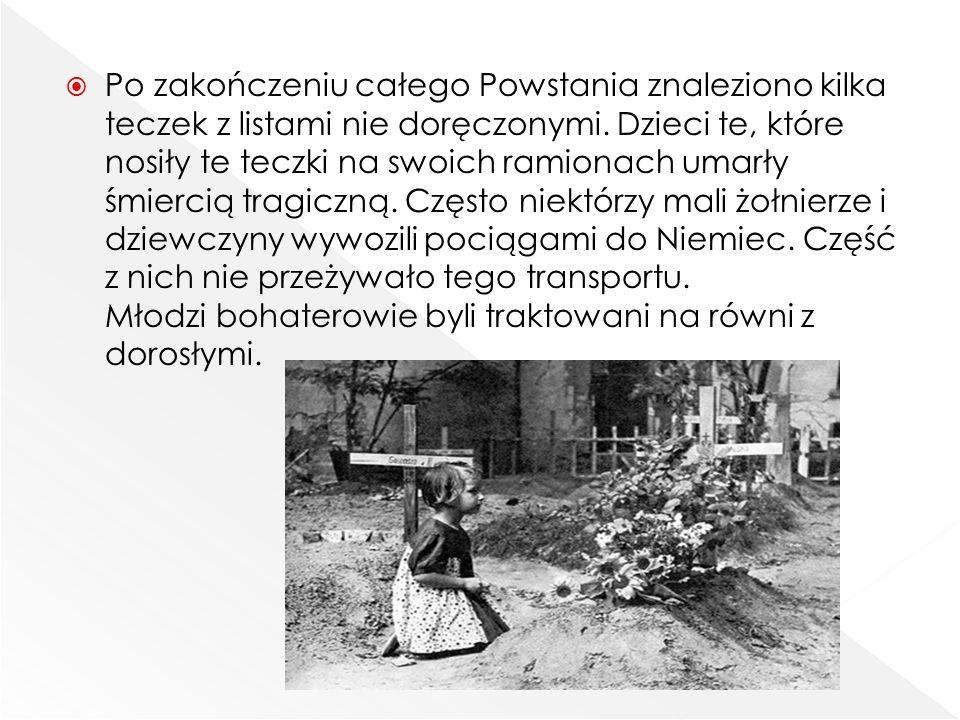 Po zakończeniu całego Powstania znaleziono kilka teczek z listami nie doręczonymi.