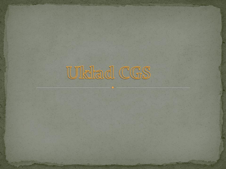 Układ CGS