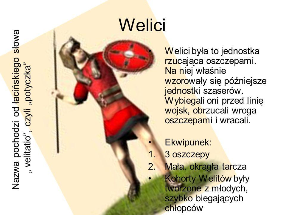 """Welici Nazwa pochodzi od łacińskiego słowa """" velitatio , czyli """"potyczka"""