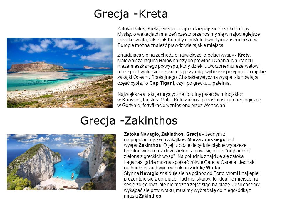 Grecja -Kreta Grecja -Zakinthos
