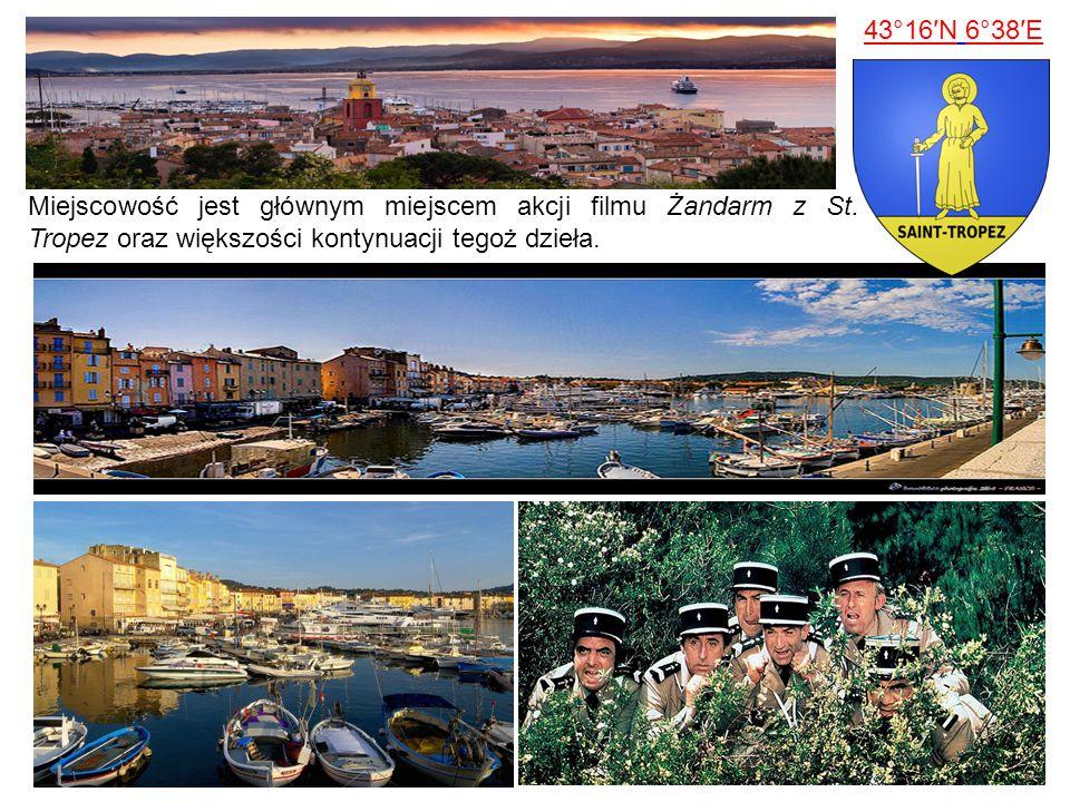 43°16′N 6°38′E Miejscowość jest głównym miejscem akcji filmu Żandarm z St.