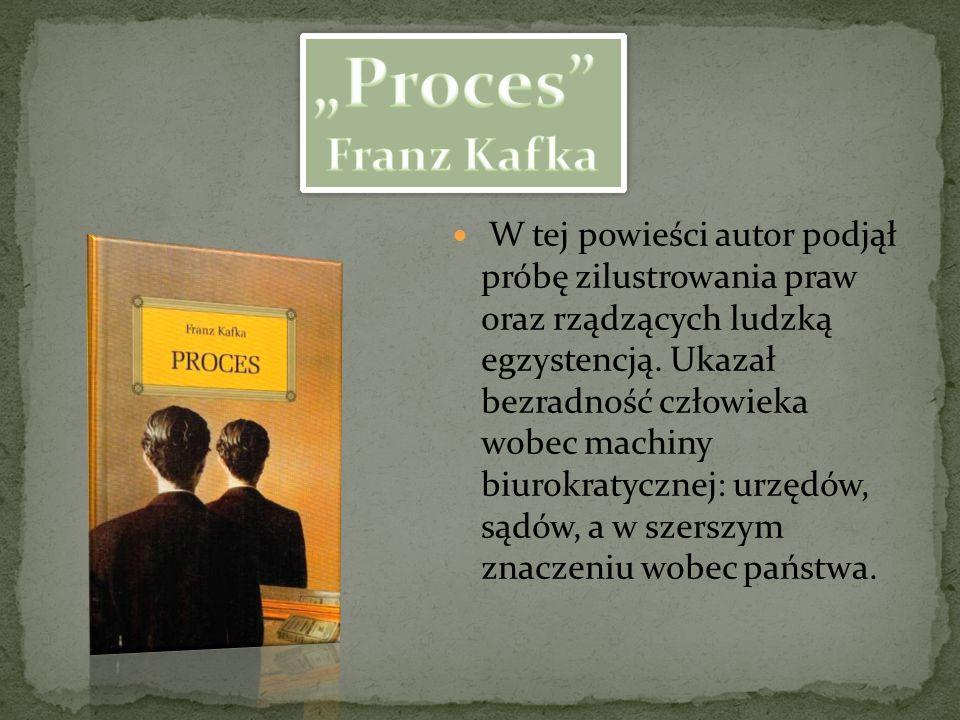 """Proces Franz Kafka."