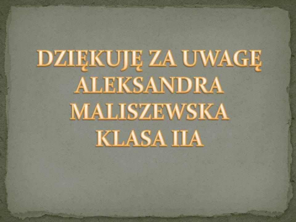 ALEKSANDRA MALISZEWSKA