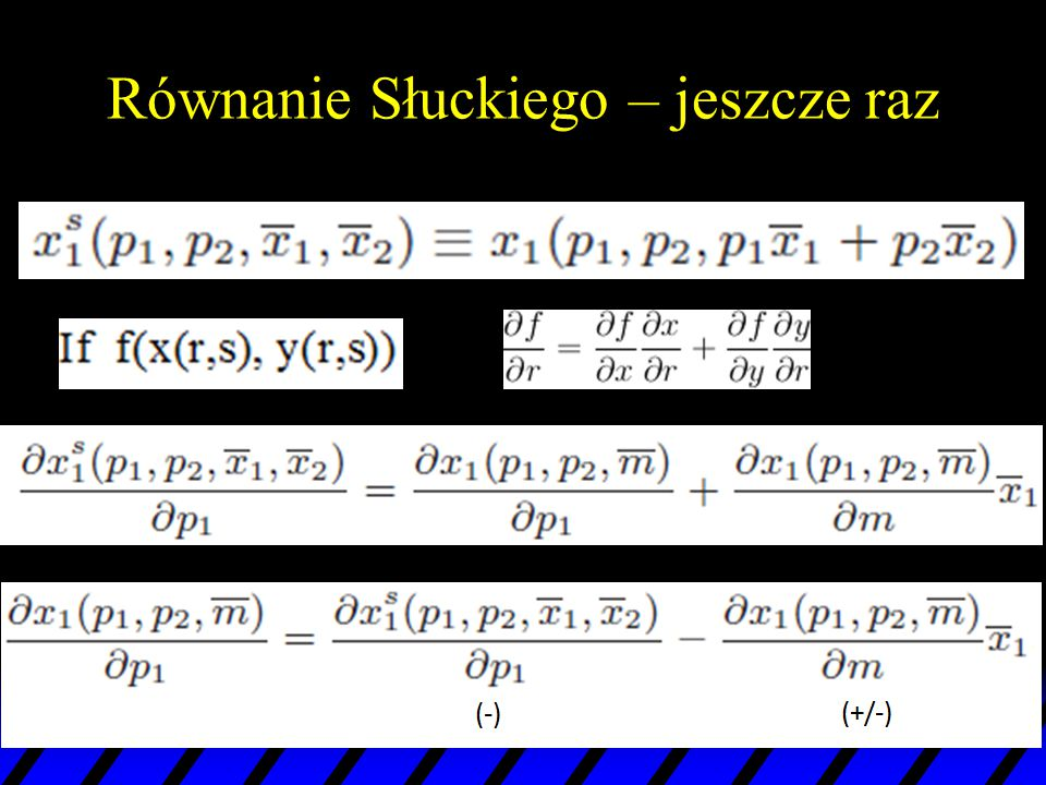 Równanie Słuckiego – jeszcze raz