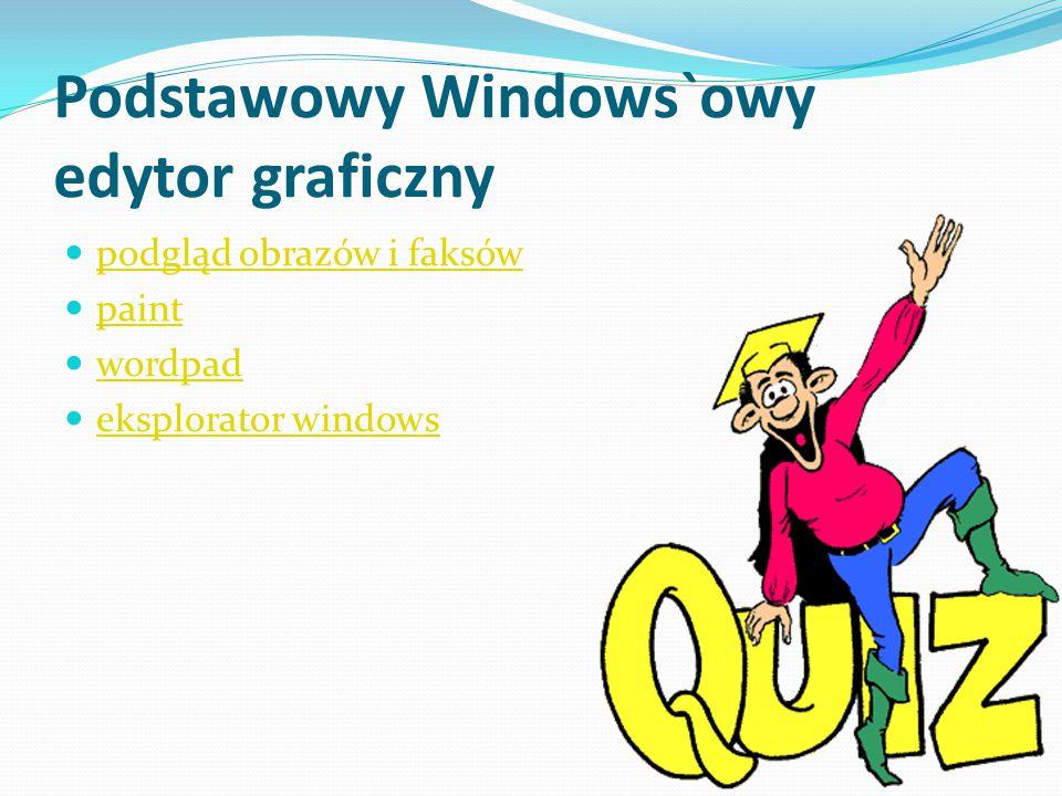 Podstawowy Windows`owy edytor graficzny