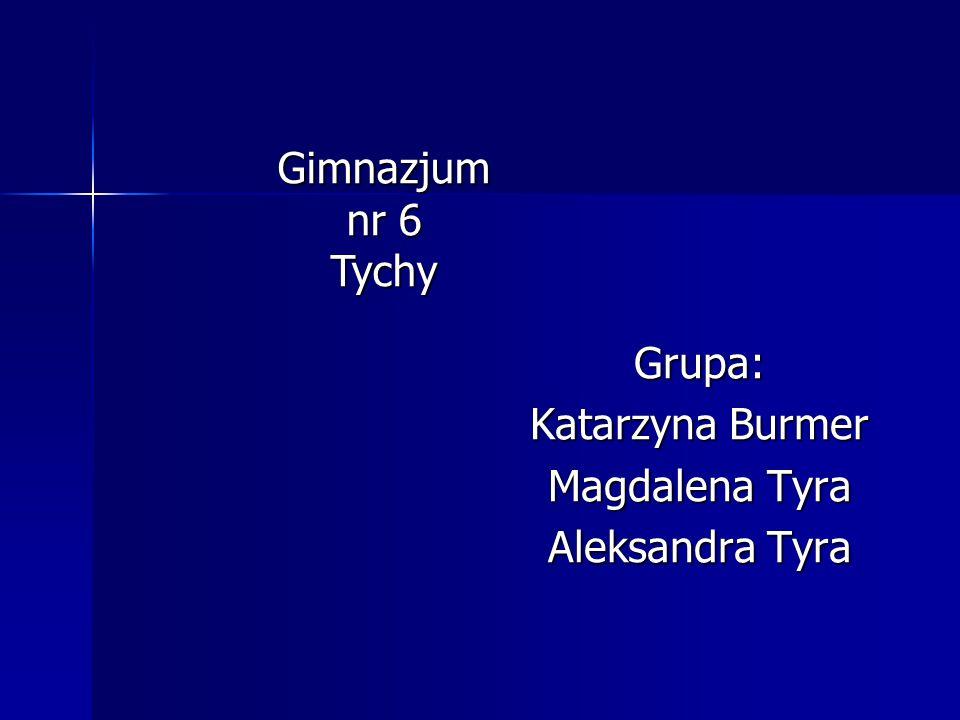 Gimnazjum nr 6 Tychy Grupa: Katarzyna Burmer Magdalena Tyra Aleksandra Tyra