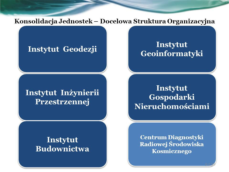 Konsolidacja Jednostek – Docelowa Struktura Organizacyjna