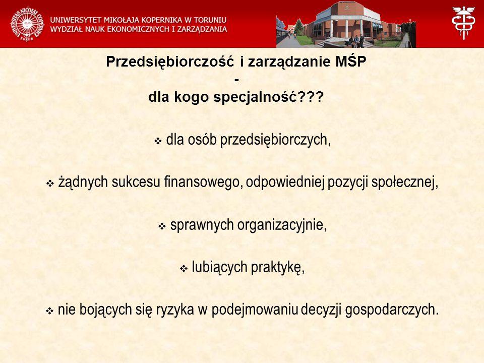 Przedsiębiorczość i zarządzanie MŚP - dla kogo specjalność