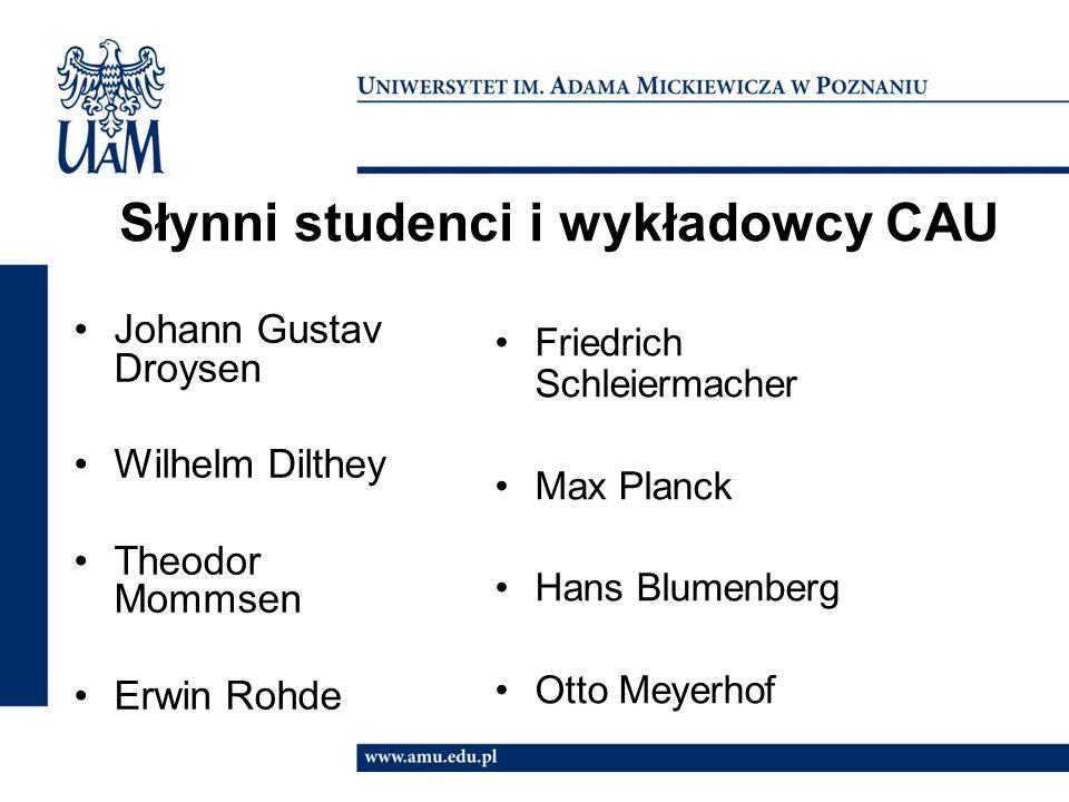 Słynni studenci i wykładowcy CAU