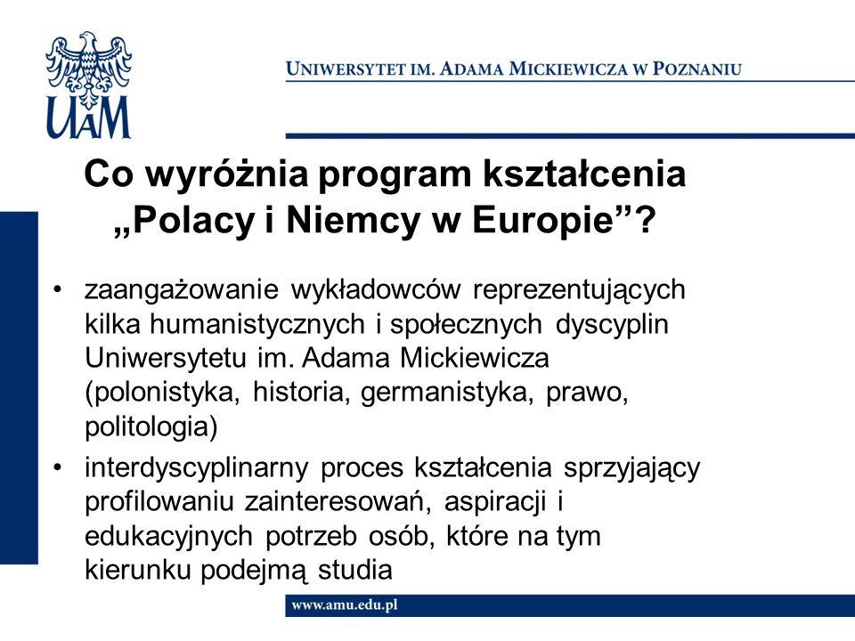 """Co wyróżnia program kształcenia """"Polacy i Niemcy w Europie"""
