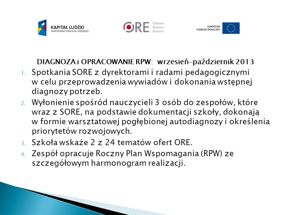 DIAGNOZA i OPRACOWANIE RPW: wrzesień-październik 2013