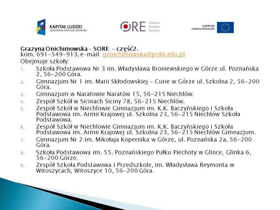 Grażyna Onichimowska – SORE – część2. kom