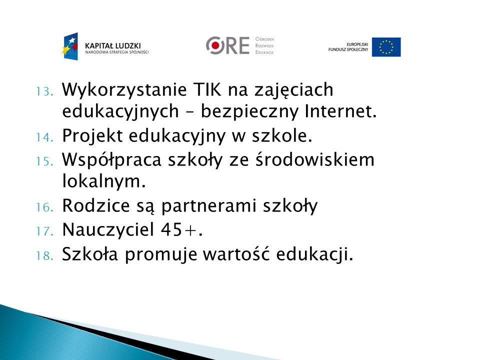 Wykorzystanie TIK na zajęciach edukacyjnych – bezpieczny Internet.