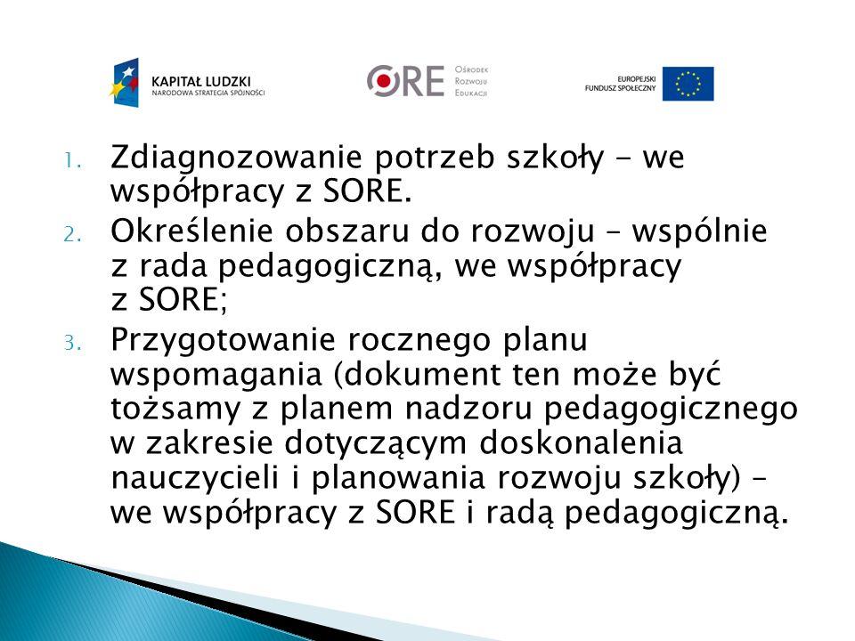 Zdiagnozowanie potrzeb szkoły - we współpracy z SORE.