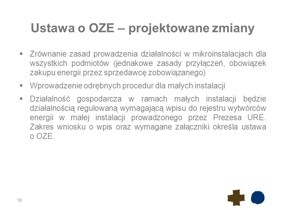 Ustawa o OZE – projektowane zmiany