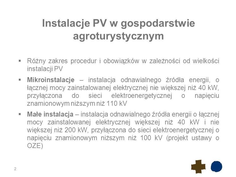 Instalacje PV w gospodarstwie agroturystycznym