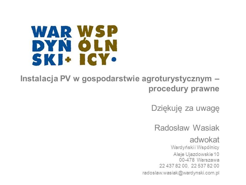 Instalacja PV w gospodarstwie agroturystycznym – procedury prawne