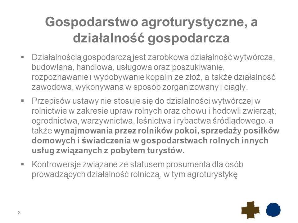 Gospodarstwo agroturystyczne, a działalność gospodarcza