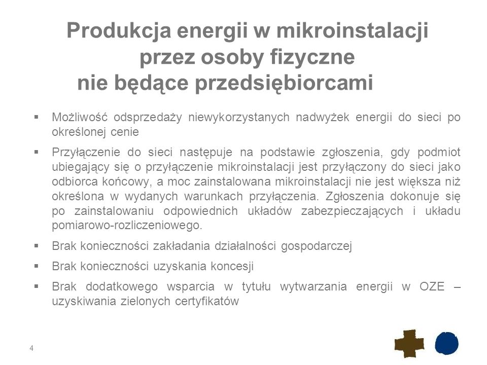 Produkcja energii w mikroinstalacji przez osoby fizyczne nie będące przedsiębiorcami