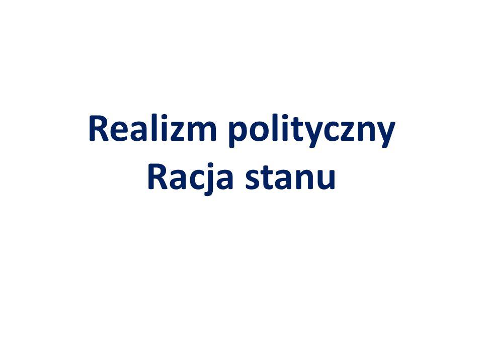 Realizm polityczny Racja stanu