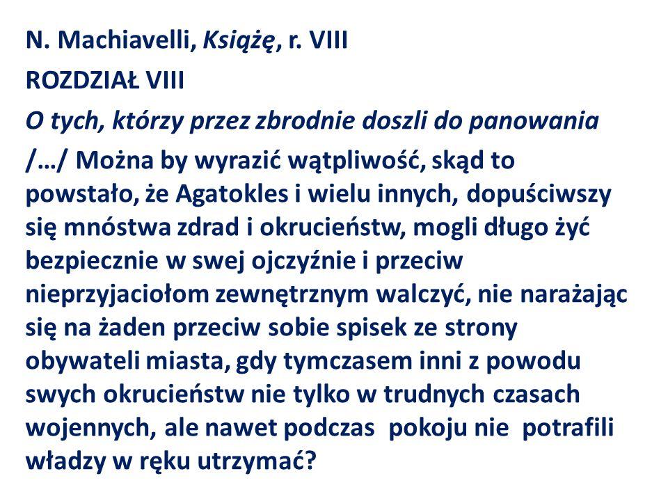 N. Machiavelli, Książę, r.