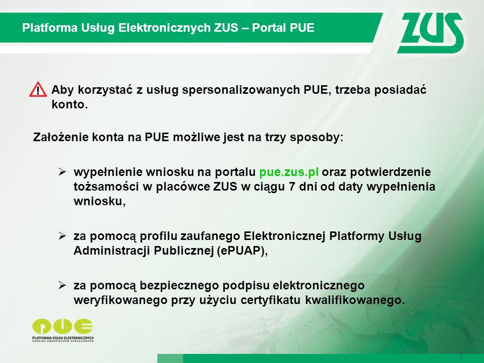 Platforma Usług Elektronicznych ZUS – Portal PUE