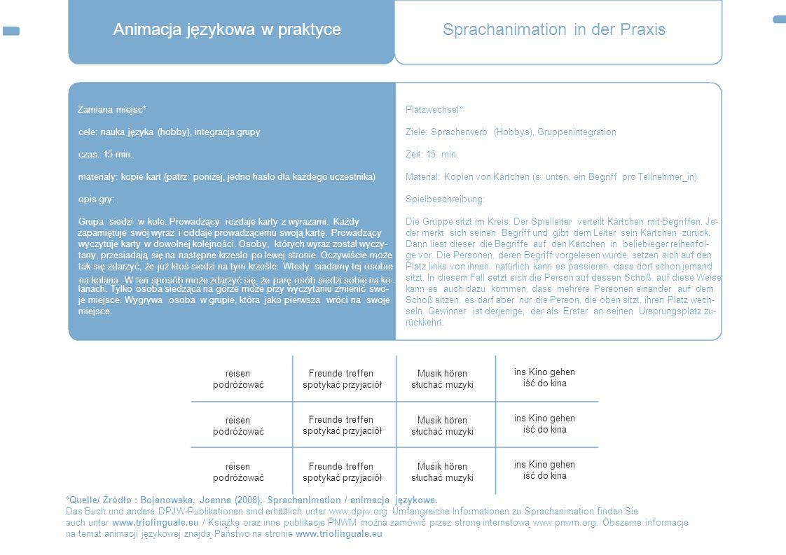 Animacja językowa w praktyce Sprachanimation in der Praxis