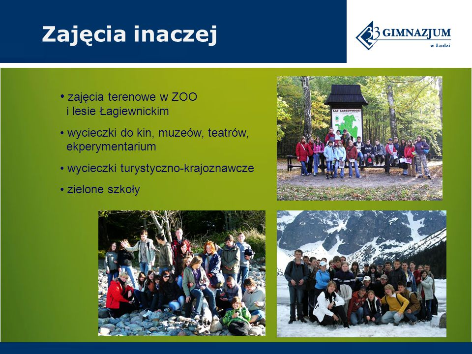 Zajęcia inaczej zajęcia terenowe w ZOO i lesie Łagiewnickim