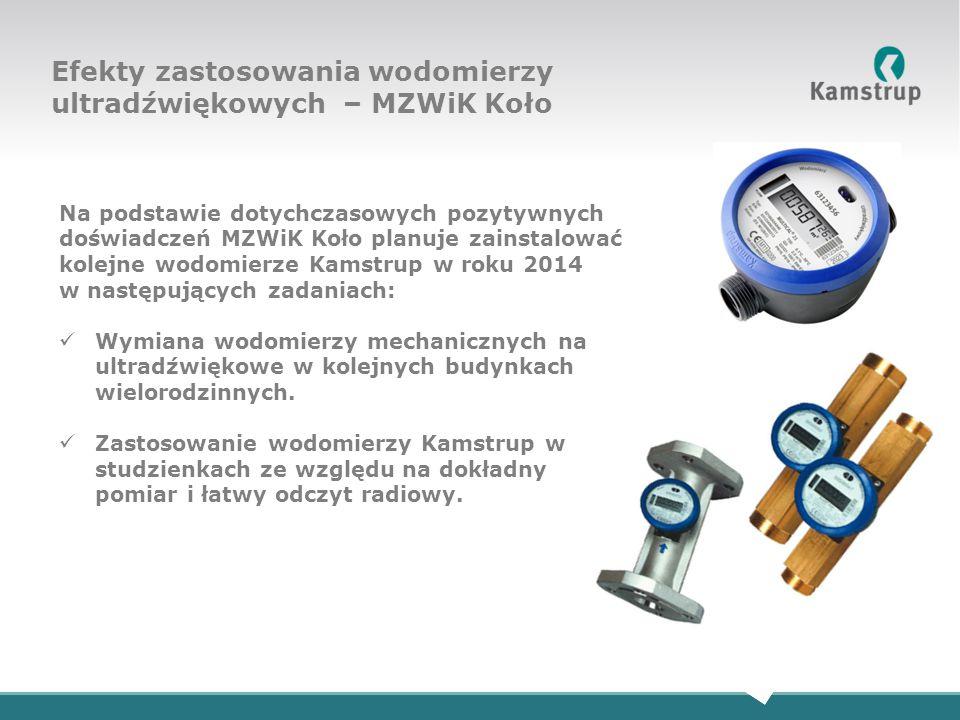 Efekty zastosowania wodomierzy ultradźwiękowych – MZWiK Koło
