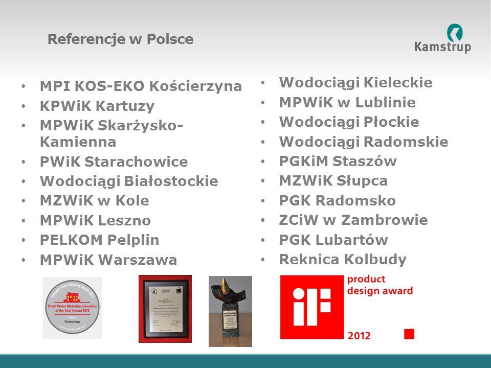Referencje w Polsce Wodociągi Kieleckie. MPWiK w Lublinie. Wodociągi Płockie. Wodociągi Radomskie.