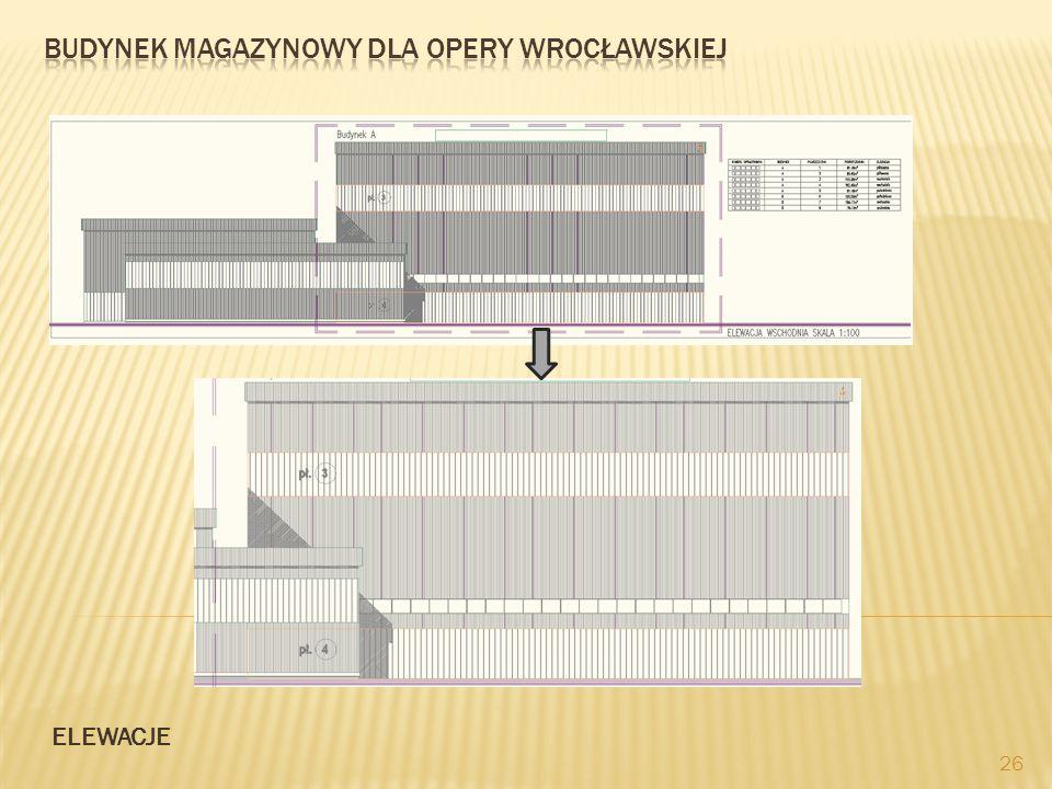 Budynek magazynowy dla opery wrocławSKIEJ