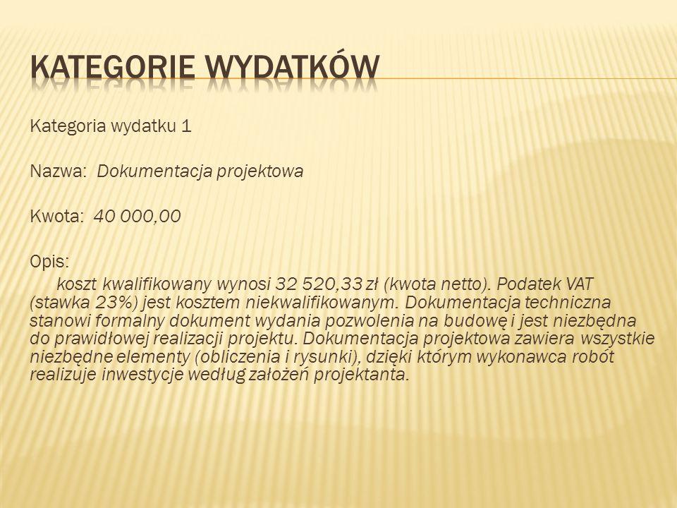 KATEGORIE WYDATKÓW