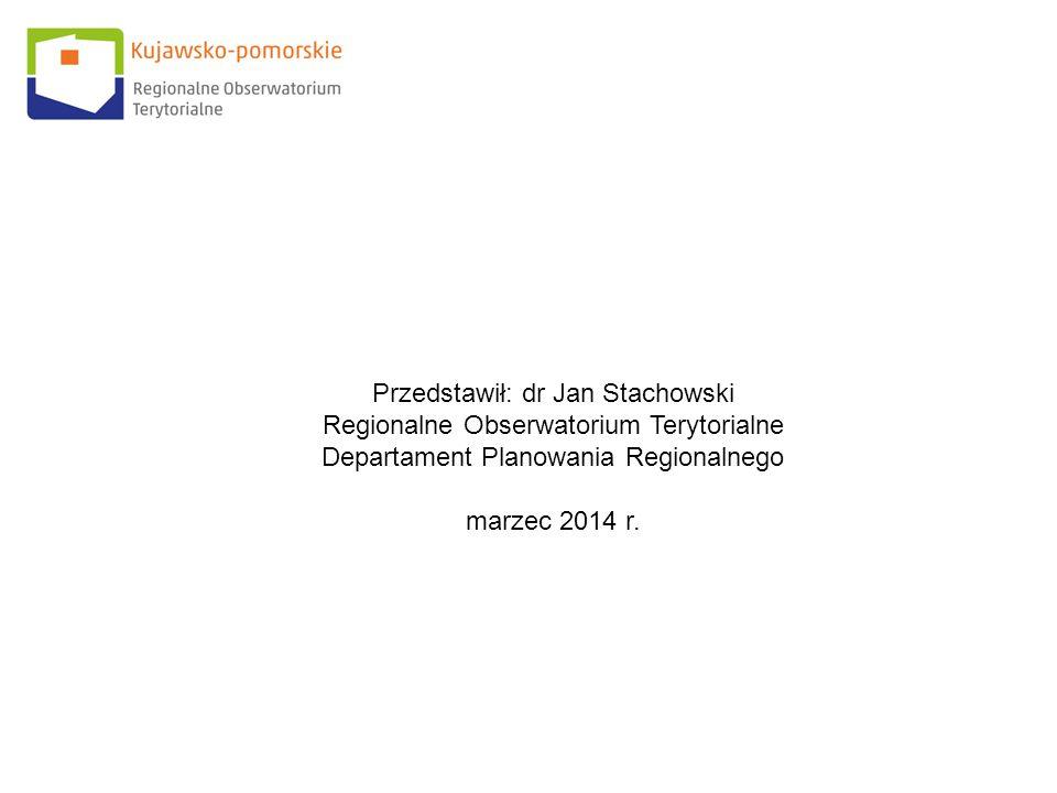 Przedstawił: dr Jan Stachowski Regionalne Obserwatorium Terytorialne