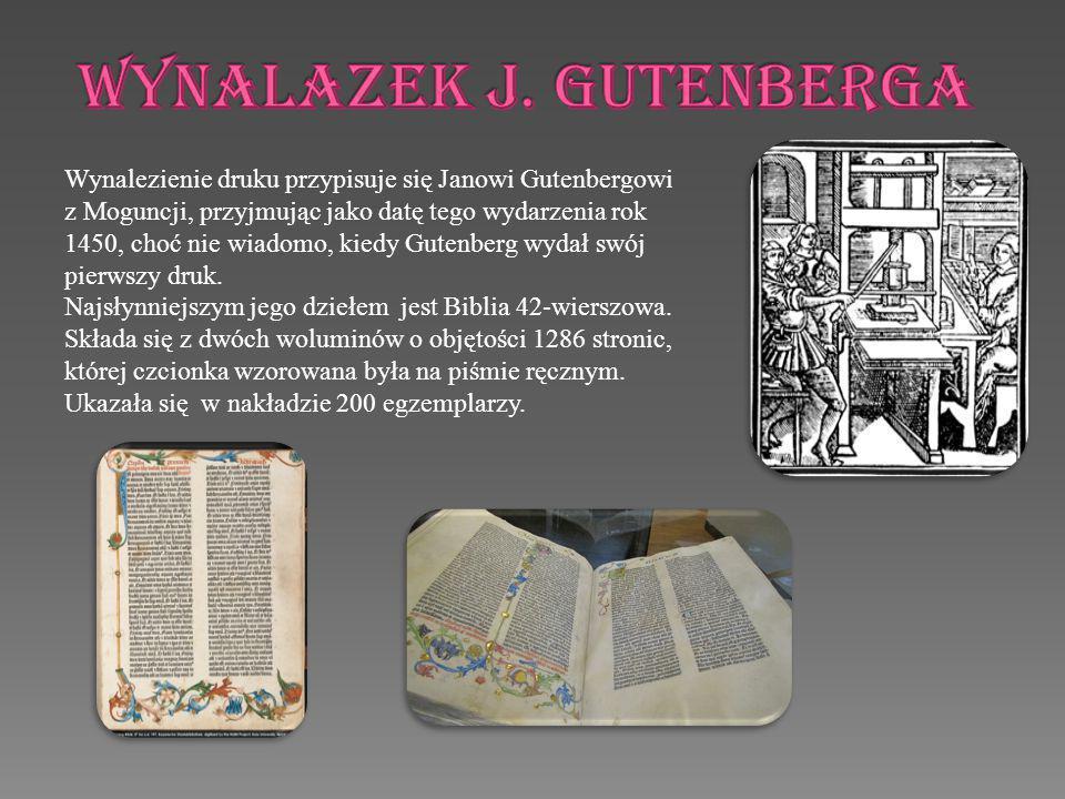 WYNALAZEK j. gUTENBERGA