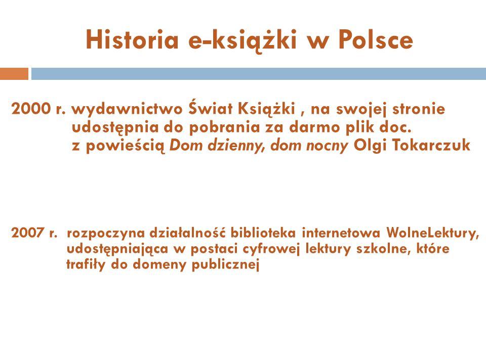 Historia e-książki w Polsce