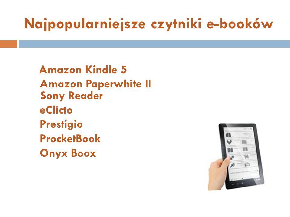 Najpopularniejsze czytniki e-booków