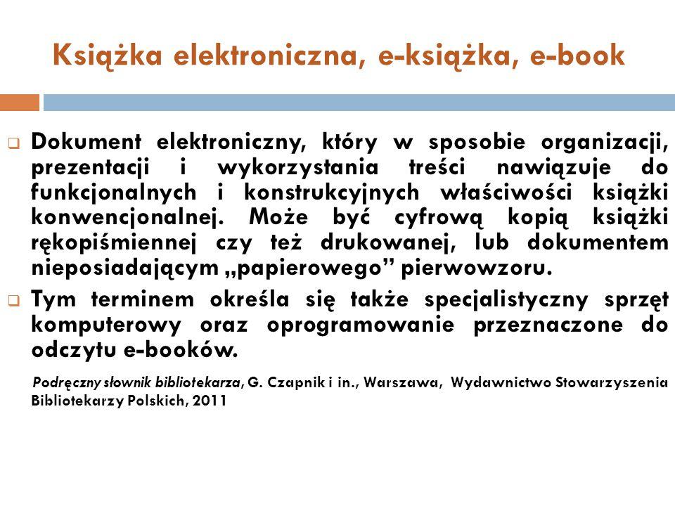 Książka elektroniczna, e-książka, e-book
