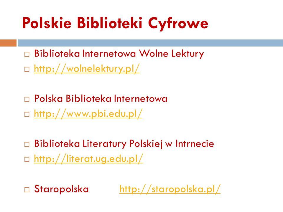 Polskie Biblioteki Cyfrowe