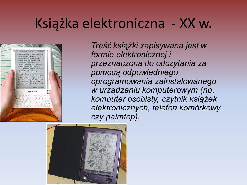 Książka elektroniczna - XX w.