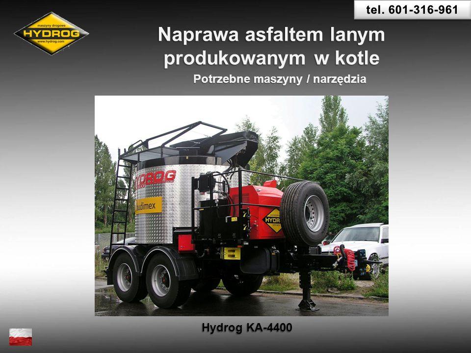 Naprawa asfaltem lanym Potrzebne maszyny / narzędzia
